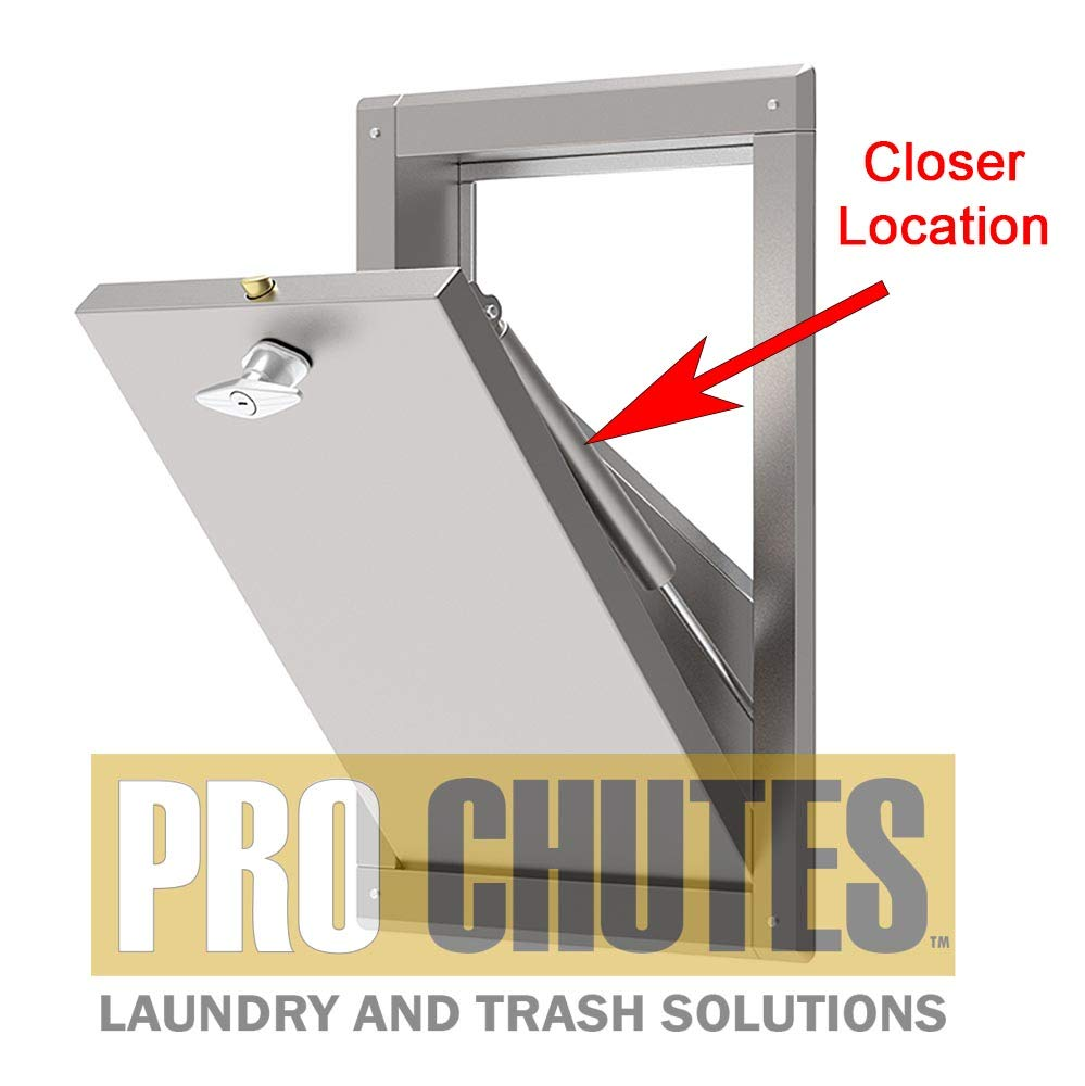 Trash Chute Door Hydraulic Closer  10 Inch Retracted Piston Pump for Bottom  & Side Hinged Laundry and Garbage Doors